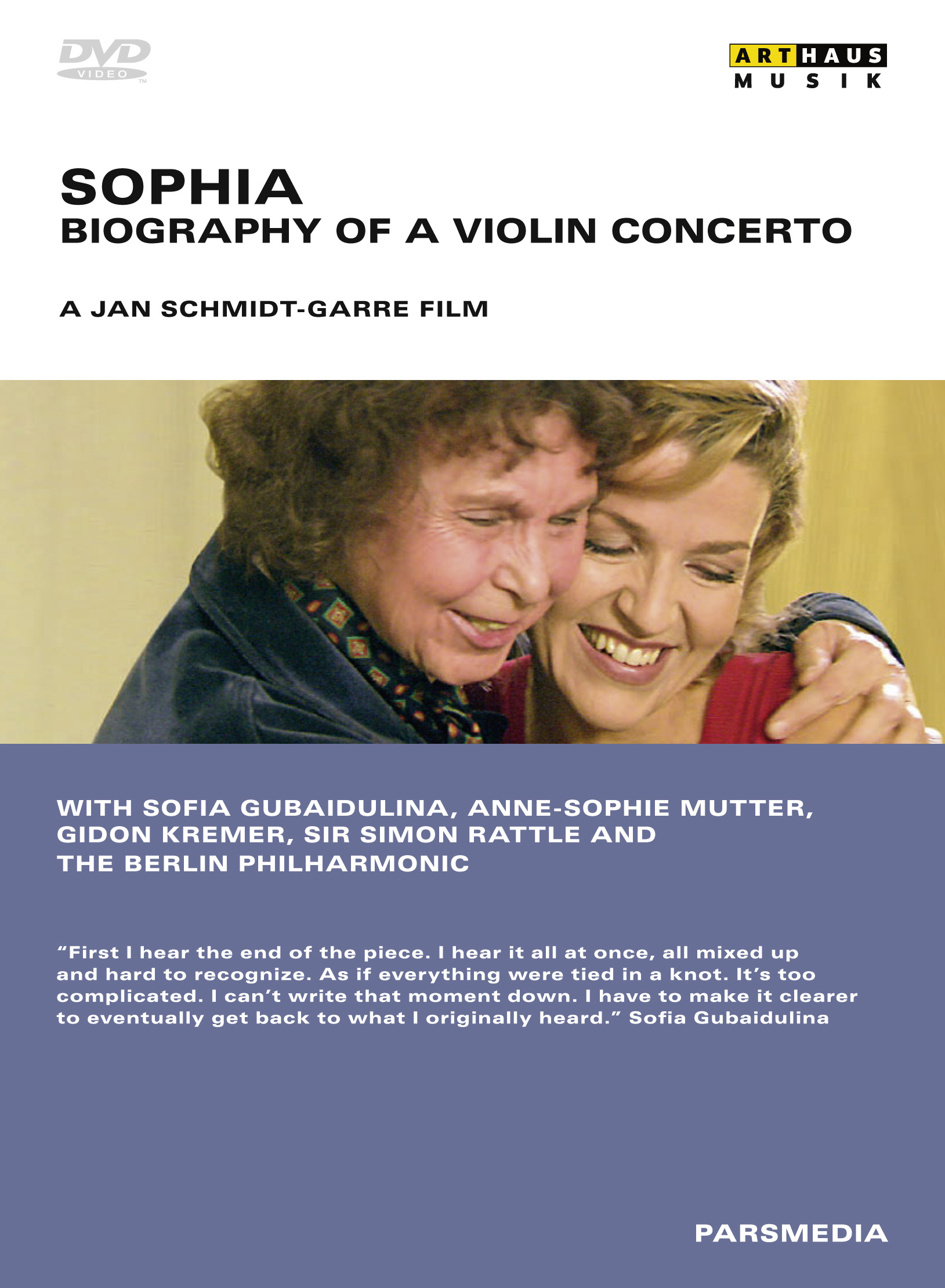 Bildresultat för Sophia – Biography of a Violin Concerto. Arthaus.
